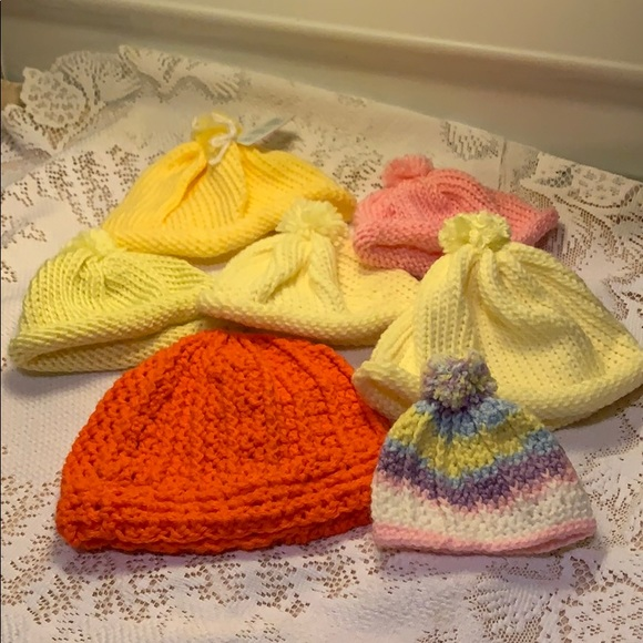 Other - Bundle of Seven Crocheted 🧶Winter Beanies New